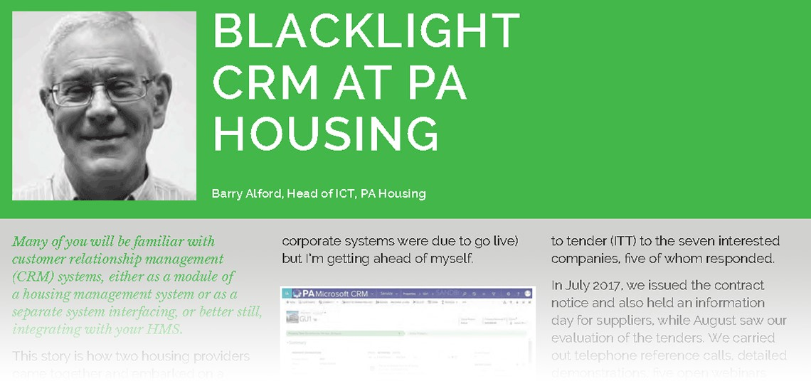 Housing Technology: Blacklight CRM at PA Housing